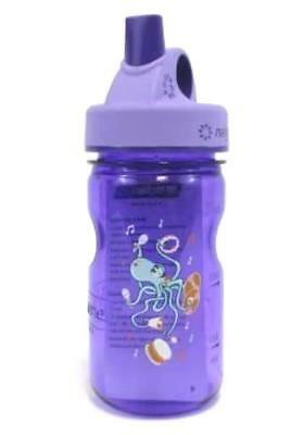 Nalgene Grip 'n Gulp Toddler Kids Sipper Bottle BPA Free 12oz Purple Octopus