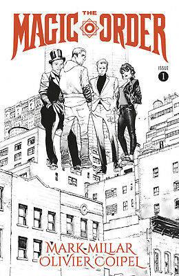 MAGIC ORDER #1 B B&W Coipel Millar Netflix Image Comics NM 2018