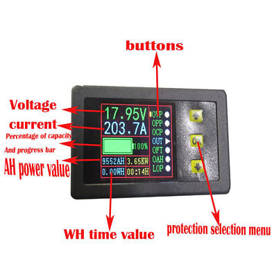 90V 50A Holzer Coulomb  Color LCD DC Bidirectional Voltage and Current Capacity