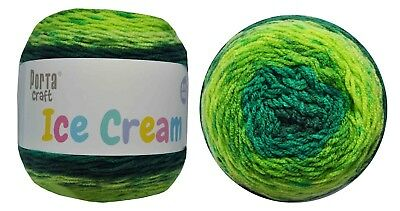 Ice Cream Yarn 200g 380m 100% Acrylic 8 ply like Caron Cake Gooseberry Swirl