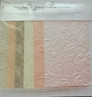Handmade Papers, Embossed, Shiny Pearlescent Metallic Finish Card/Scrapbooking