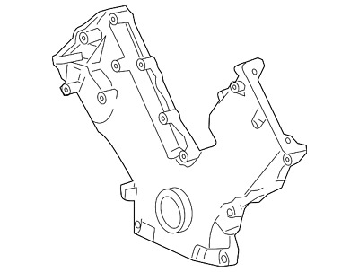 Genuine Ford Timing Cover 2l8z 6019 Aa
