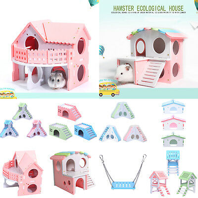 Eco Board Pet Hamster Slide Stairs Villa Bedding Sleeping Cage House Nest Toys