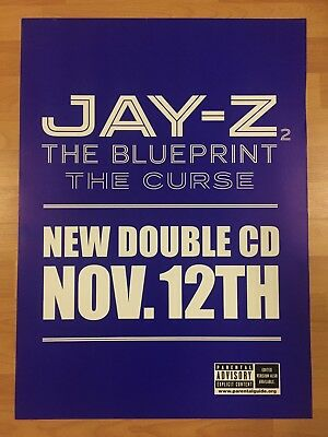 Rare jay z the blueprint 2 the curse 195 x 27 promo poster hip rare jay z the blueprint 2 the curse 195 x 27 promo poster malvernweather Images