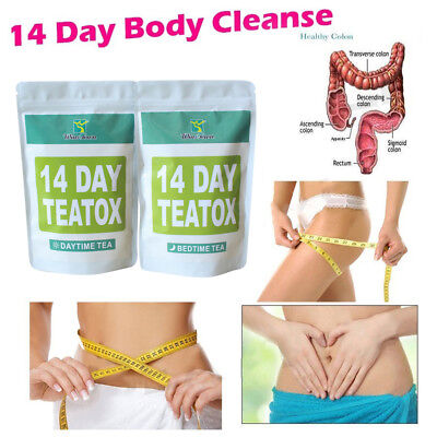 Health Appetite Suppressant Thin Belly 14 Days Detox Slimming Weight Loss Tea AU
