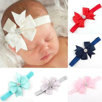 born Baby Gir Bow Hair Band Headband Infant Toddler Girls.Accessor-