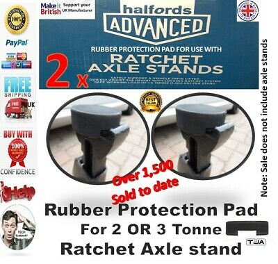 4 x For Halfords Rachet 2 or 3 tonne - Axle Stands Protection Rubber pad classic