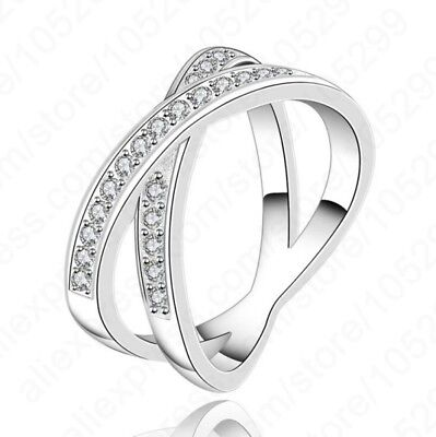 New Fashion Hottest 925 Sterling Silver Personality Circle Design Woman Rings AA