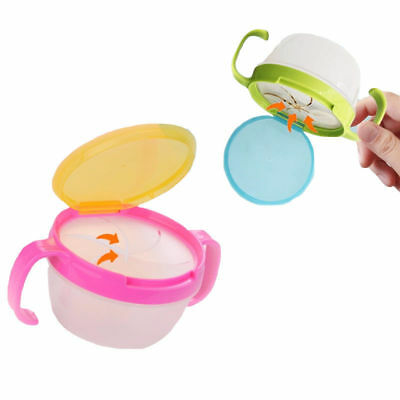 Non-Toxic Baby Kids Feeding Bowl Anti-sprinkle Fruit Cookie Snack Food Cup Dish