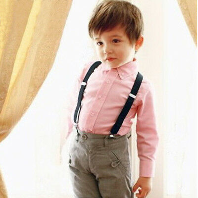 New Suspenders For Kids Boys Toddler Elastic Adjustable Clip-on Braces  UK