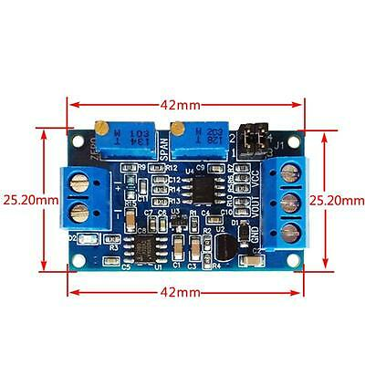 Durable 0/4-20mA To 0-3.3V5V10V Voltage Transmitter Signal Converter Module DLUK