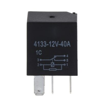 Automotive 12V 40A 5 Pin Relay Long Life Time Delay Automotive Relays For Car