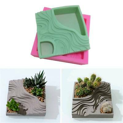 3D Handmade Silicone Flower Succulent Plants Pot Mould Planter Bonsai Decor DIY