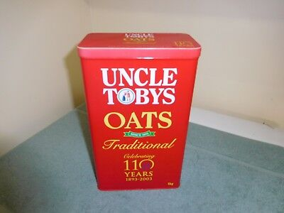 UNCLE TOBY's Oats Tin -  Celebrating 110 Years