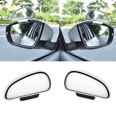1X Universal Car Wide Angle Rear Side View Blind Spot Square Mirror White Right