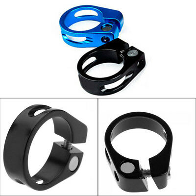 1x Bicycle Hope Bolt On Seat Seatpost Clamp 31.8mm/34.9mm Black/Blue Ultralight
