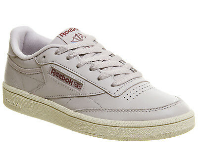 2afd0582483f WOMENS REEBOK CLUB C 85 Trainers Vintage Chalk Lavender Luck Paper White  Trainer