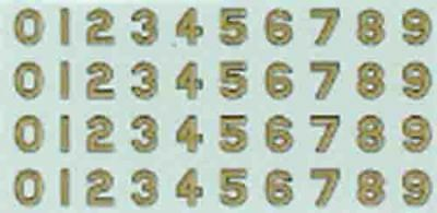 """Model Tram Decals O scale 1/43rd (7mm) or 1/48th (¼"""") Gold Sydney tram numbers"""