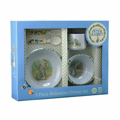 NEW Peter Rabbit 5 Piece Kids Dinner Meal Time Gift Set