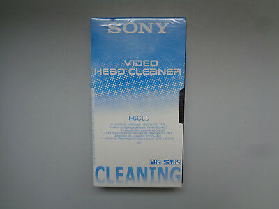Cassette Video Head Cleaner SONY T-6CLD - K7 Nettoyage VHS S-VHS Neuf