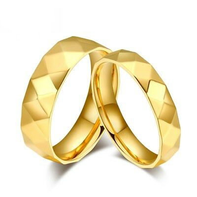 316L Stainless Steel Men Women Special Rhombus Style Wedding Gift Ring Size 5-12