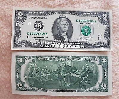 2 Dollar Schein  (K) 2013 UNC. – Two Dollars K USA unc.