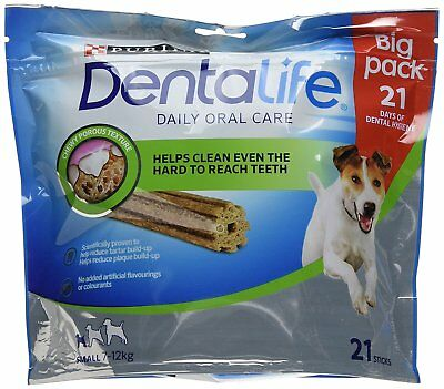 DENTALIFE Small Dog Dental Chew, 21x16g - Pack of 3 NEW & FAST