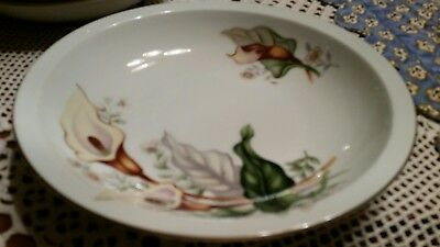 Ivory China Made in Japan Meito Vintage Oval Vegetable Server-Lilly Pattern