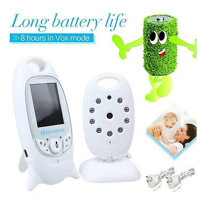 Baby Monitor Night Vision LCD Wireless Audio Talk Digital Video White Color UK
