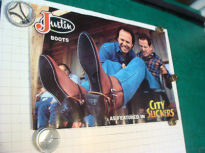 original vintage Poster: Justin Boots as featured CITY SLICKERS movie-24 x 16 #2
