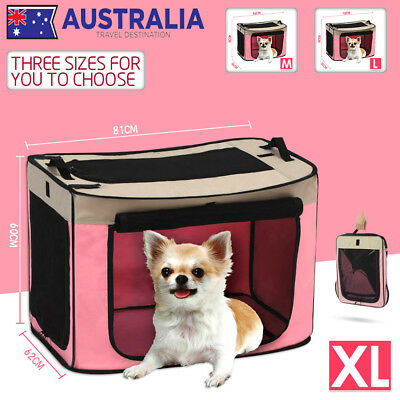 New Pet Car Carry Soft Crate Dog Cat Travel Carrier Cage Kennel Folding Portable