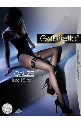 Sheer Hold Ups 15 Den Lace Top Gabriella Calze Lux