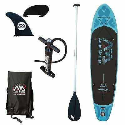 "Aqua Marina Vapor  - 10' 10"" Inflatable Stand Up Paddle Board (SUP) w/  Paddle"