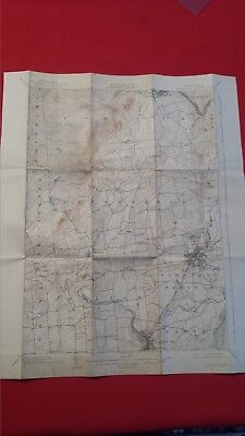 Antique Geological Survey Map Of New York Saratoga Quadrangle