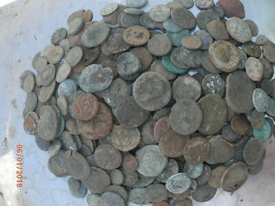 Lot Of Around 220 Ancient Greek & Roman & Byzantine Coins Over 30 Oz