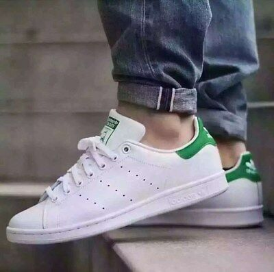 Youth / Womens Adidas Stan Smith Classic Sneakers New, White / Green M20605