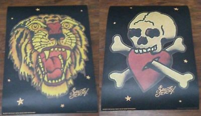 2016 Sailor Jerry Spiced Rum Mini Poster Print Canister Pirate Jolly Roger Tiger