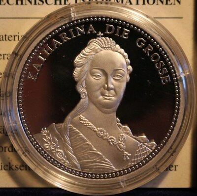 Russia Medal Katharina die Grosse Solid Silver 999 Catherine the Great