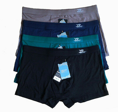 Top quality Mens Very Soft Underwear Bamboo Fiber Boxer Briefs 3 Size 5 Colors
