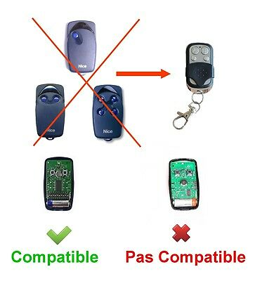 TELECOMMANDE COPIEUSE NICE FLO1, FLO2, FLO4, VERY VE 433,92 Mhz
