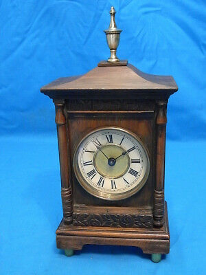Victorian Mahogany Cased German Wurttemburg Mantle Clock. G.w.o.