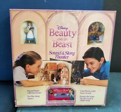 Vtg Beauty and the Beast Sound & Story Theater Cassette Belle Playset Toy Figure