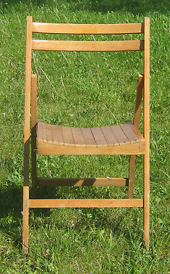 Vintage Wood Slatted Chair