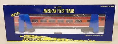 American Flyer #6-49947 Southern Pacific Daylight Full Vista Dome Pass. Car-Mib!