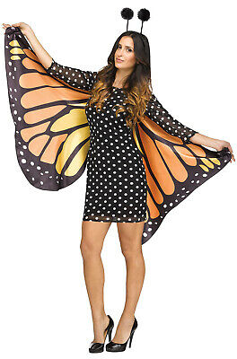 Brand New Monarch Insect Fluttery Butterfly Adult Costume