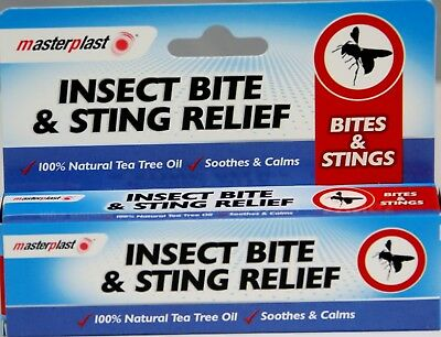 Masterplast Insect Bite & Sting Relief Tea Tree Oil Cream Soothes Calms Mosquito