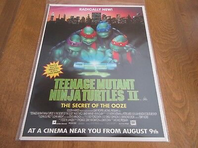 TEENAGE MUTANT NINJA TURTLES 2 green ooze movie magazine print ad 81/2 x 11