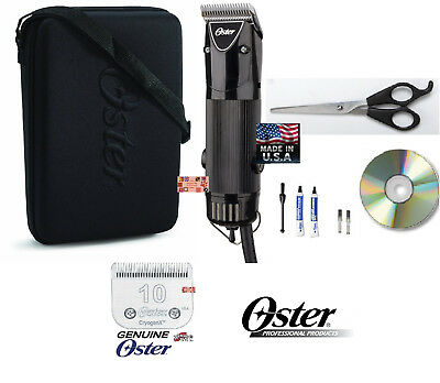OSTER GOLDEN PET GROOMING A5 2 SPEED Clipper KIT w/CryogenX 10 BLADE,SHEARS,CASE