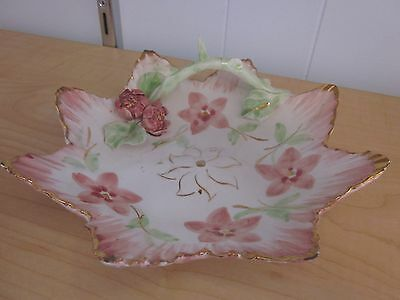 Vintage Romantic Shabby Chic decor Hand painted decorative plate made in Italy P