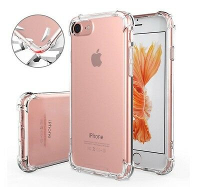 Funda para iPhone 8 Plus Gel antigolpes Transparente, esquina reforzada